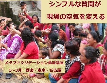 メタファシリテーション(対話型ファシリテーション)基礎講座 「途上国の人々との話し方」の実践スキルを身につけよう@名古屋