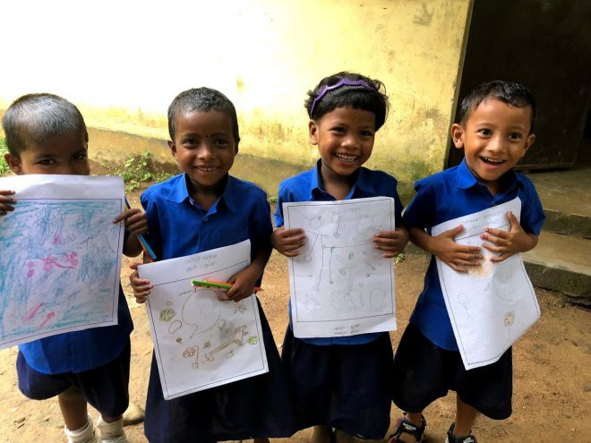 ESAゾウさん文庫「えがおでEGAKO!」展 バングラデシュとインドの子どもたちのはじめて絵画展~