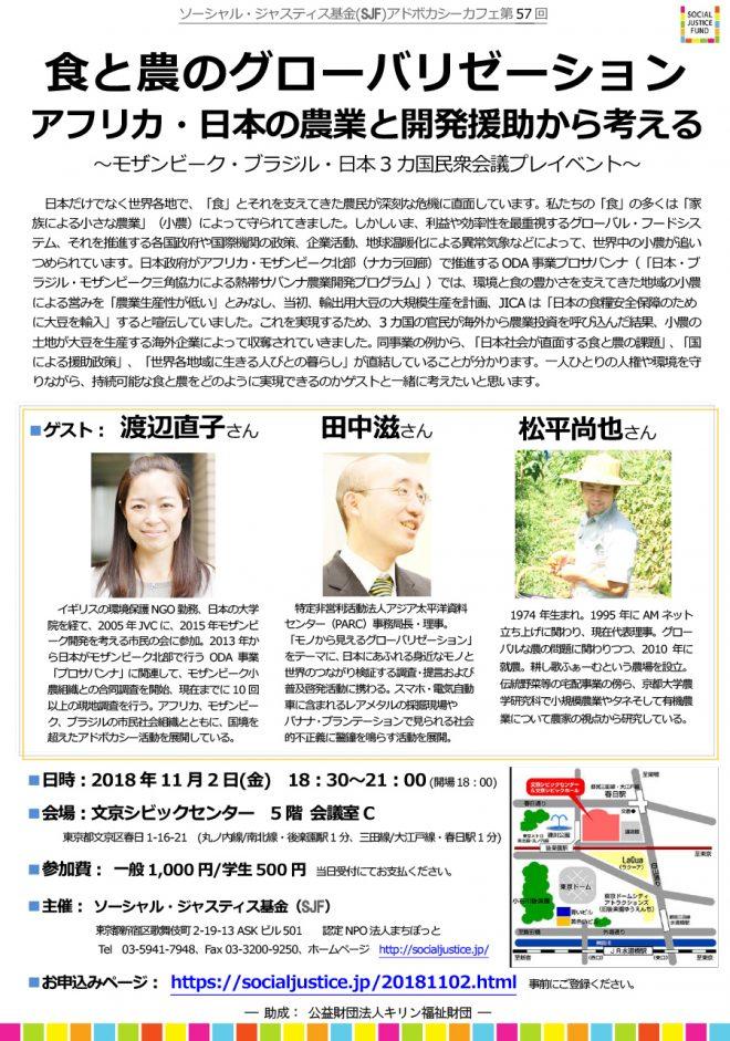 『食と農のグローバリゼーション ~アフリカ・日本の農業と開発援助から考える~』:参加者募集