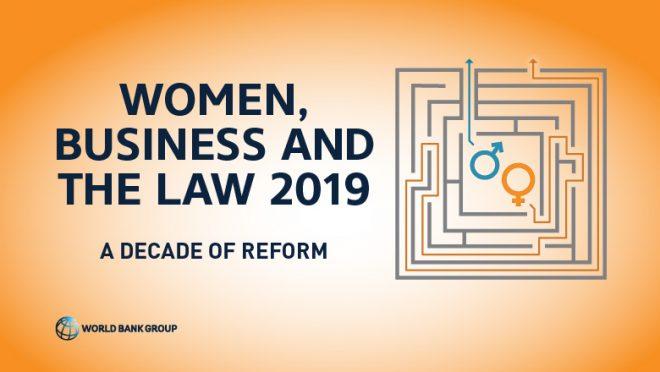 【4月25日(木)開催】世界銀行モーニングセミナー(第34回)「女性・ビジネス・法律2019」