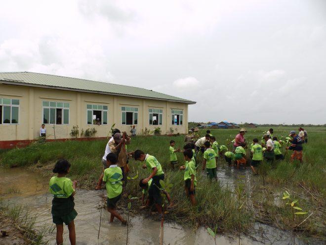 「校舎を守る緑の壁:ミャンマー 『学校マングローブ防風林』植林事業」報告会