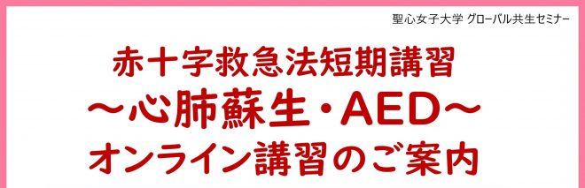 赤十字救急法短期講習 ~心肺蘇生・AED~ オンライン講習会