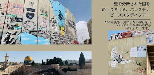 壁で分断された国をめぐり考える、 パレスチナ ピーススタディツアー 第二弾 @オンライン