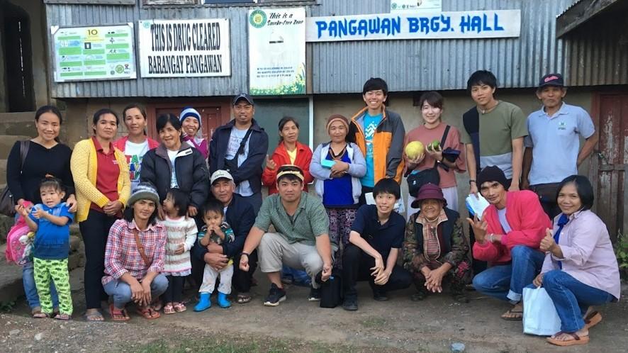 スタディツアー参加者と農民