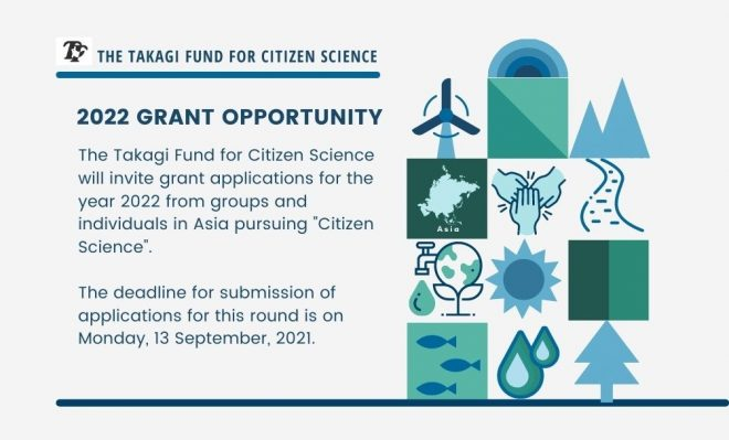 Call for applications 2022: Grant Opportunities for Citizen Scientists (groups and individuals) in Asia